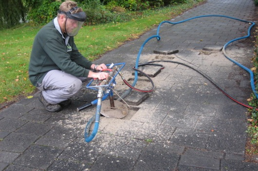 Boomverzorging trottoir werkzaamheden