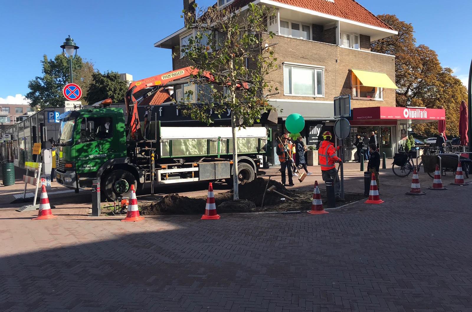 Hoefakker boomspecialisten nieuwe bomen voor vernieuwde 1e Hogeweg Zeist (3) m