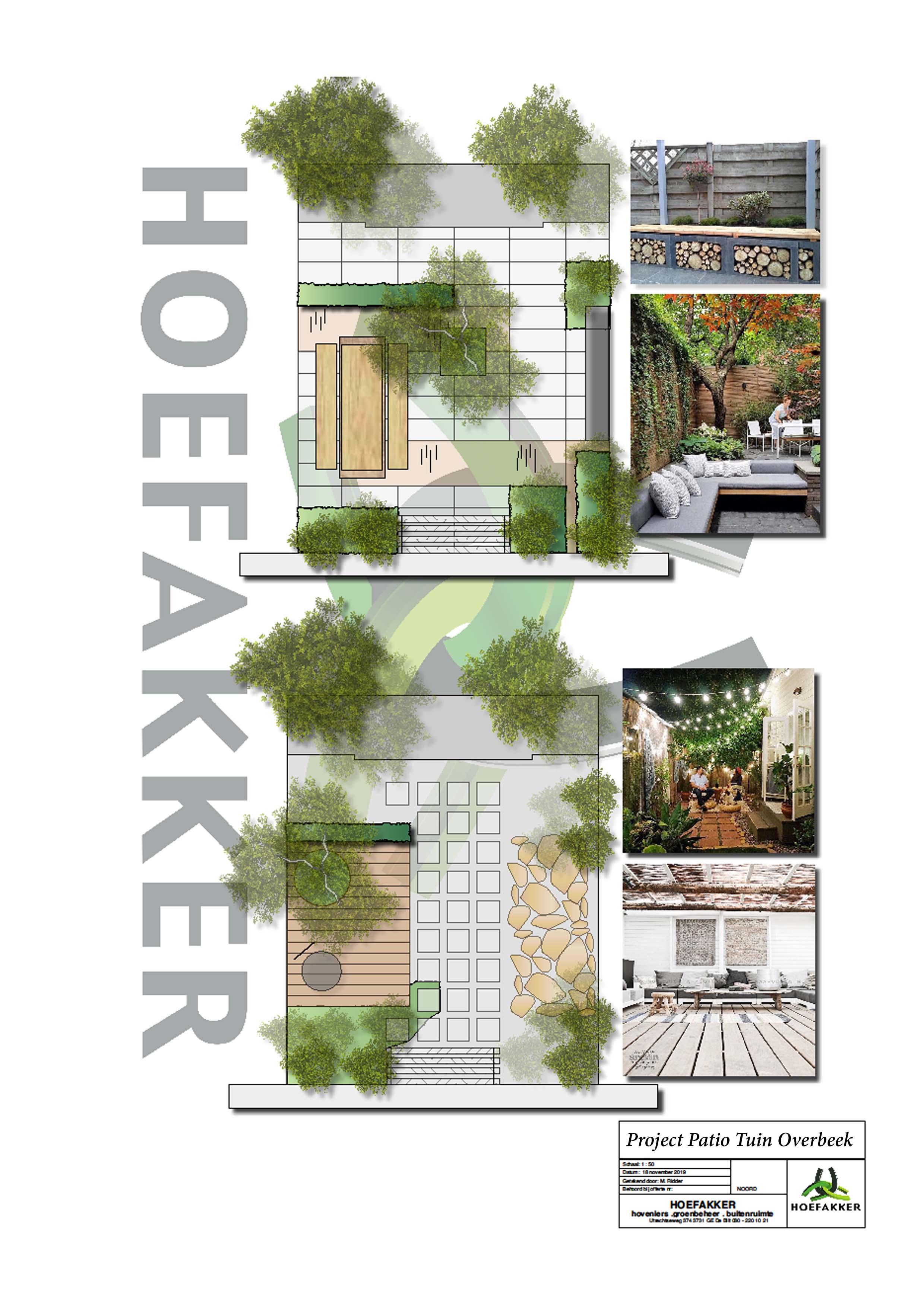 Hoefakker Hoveniers Ontwerp patio tuin Overbeek